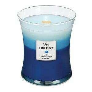 Lumânare parfumată  WoodWick Triilogia Flori și cașmir, 275 g, 60 ore