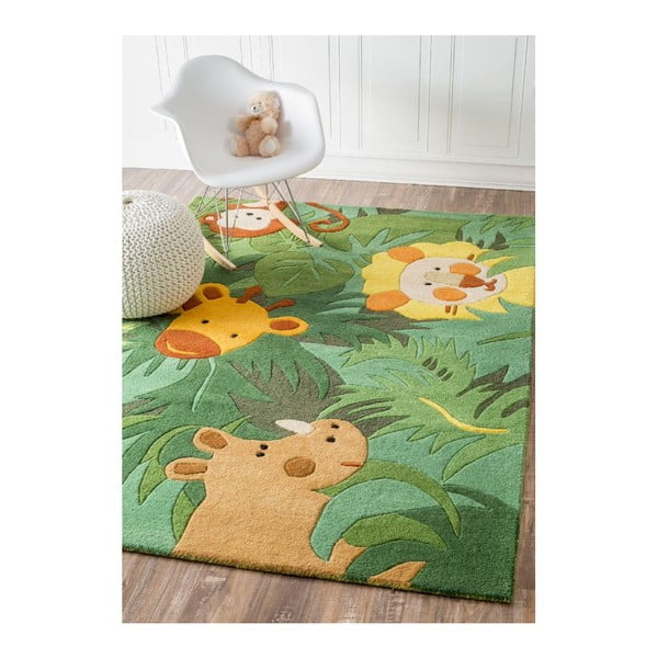 Ručně tuftovaný koberec nuLOOM Jungle, 107x168 cm