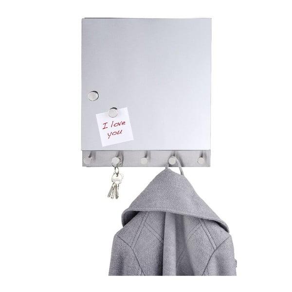 Magnetický věšák na kabáty s nástěnkou Wenko Mirror Big
