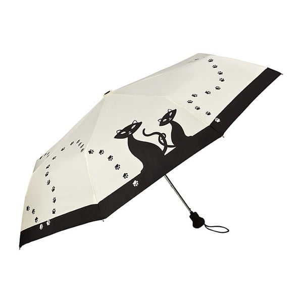 Skládací deštník Von Lilienfeld Black Cats, ø 90 cm