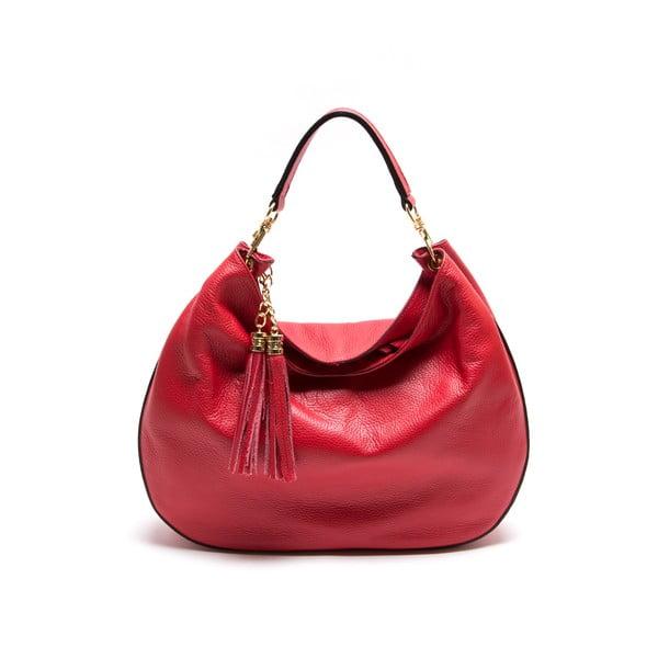 Kožená kabelka Isabella Rhea 1118, červená