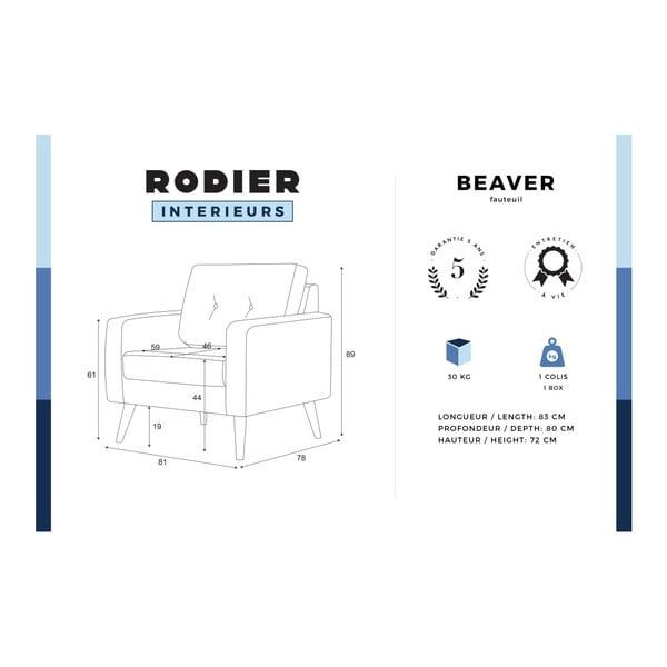 Šedé křeslo Rodier Intérieurs Beaver
