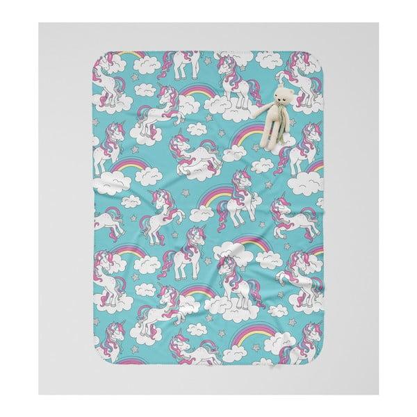 Pătură pentru copii OYO Kids Unicorn Adventures, 120 x 160 cm