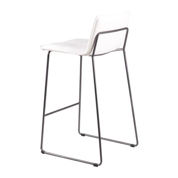 Set 2 scaune de bar sømcasa Lou, alb