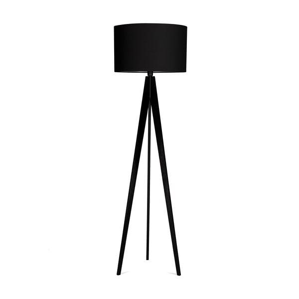 Stojací lampa 4room Artist Black/Black, 125x42 cm