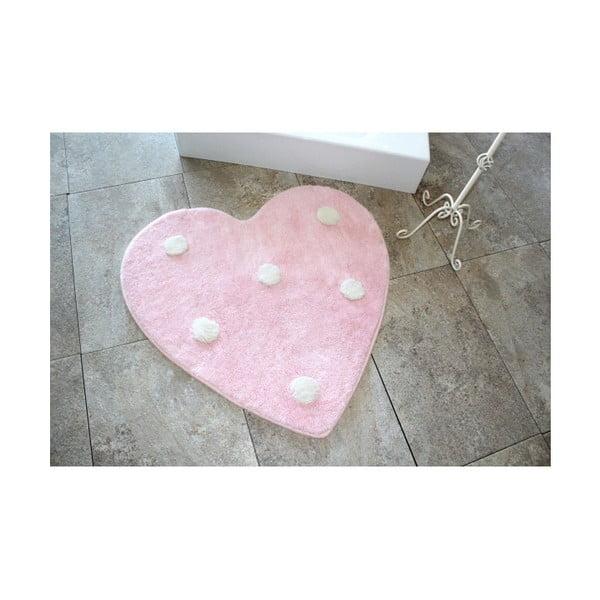 Koupelnová předložka Poni Pink, ⌀ 90 cm