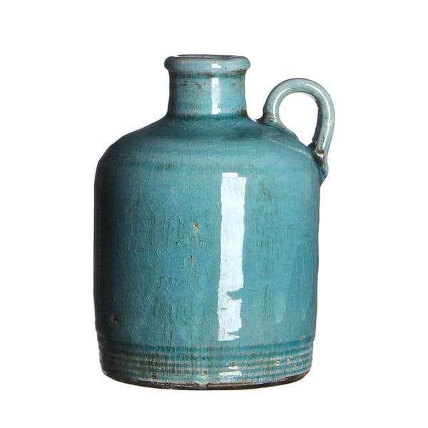 Keramická váza Sil Turquoise, 14x10 cm