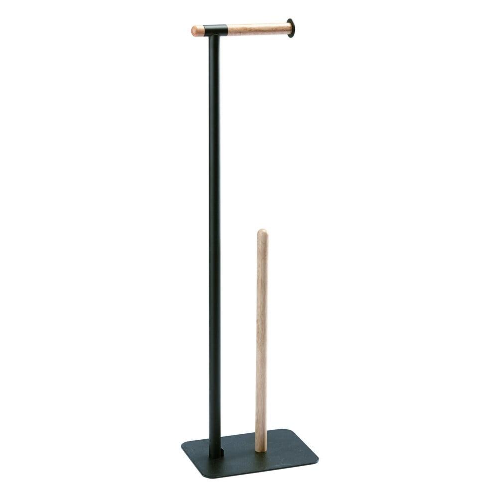 Černý stojan na toaletní papír Aquanova Oscar