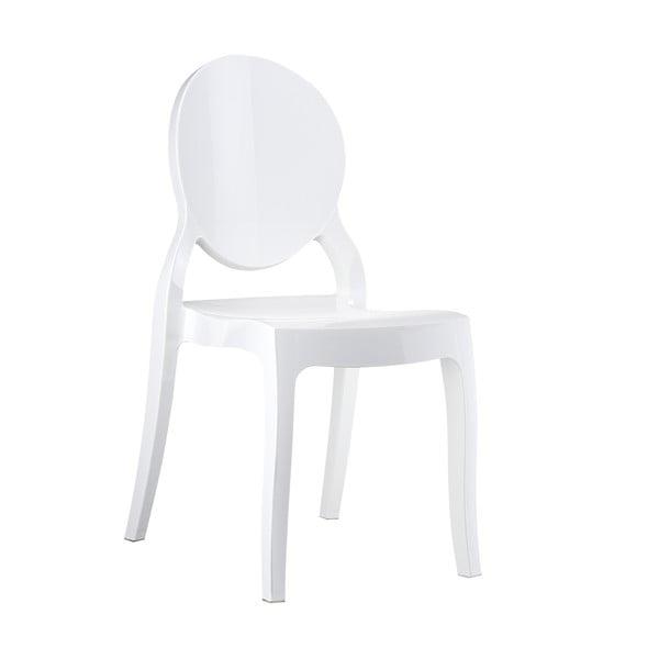 Židle Elizabeth Clear White