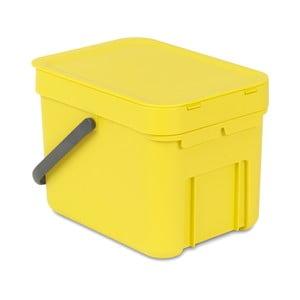 Koš Sort & Go 6 l, žlutý