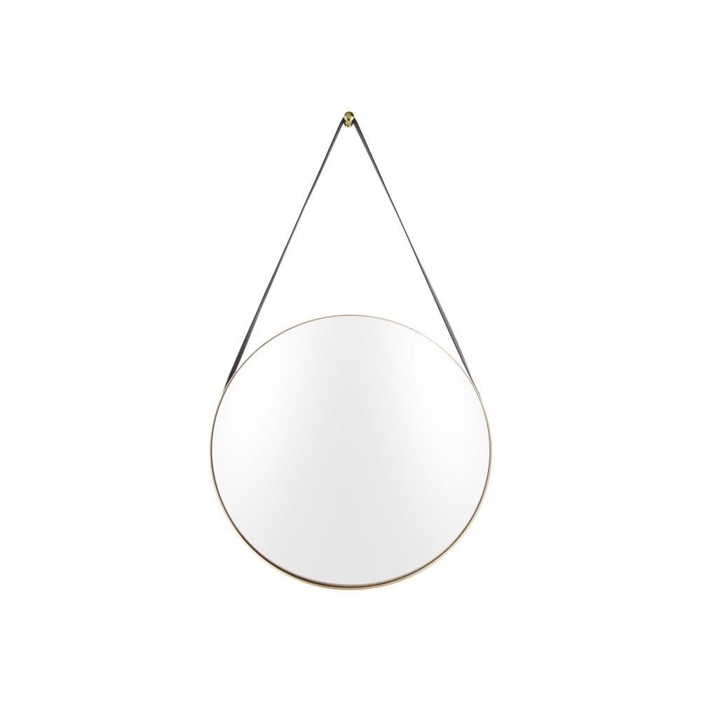 Nástěnné zrcadlo s rámem ve zlaté barvě PT LIVING Balanced, ø47 cm