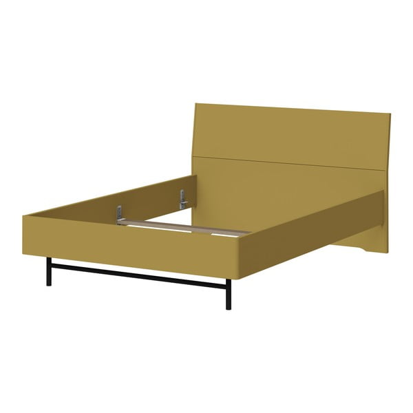 Monteo zöldessárga egyszemélyes ágy, 140 x 200 cm - Germania