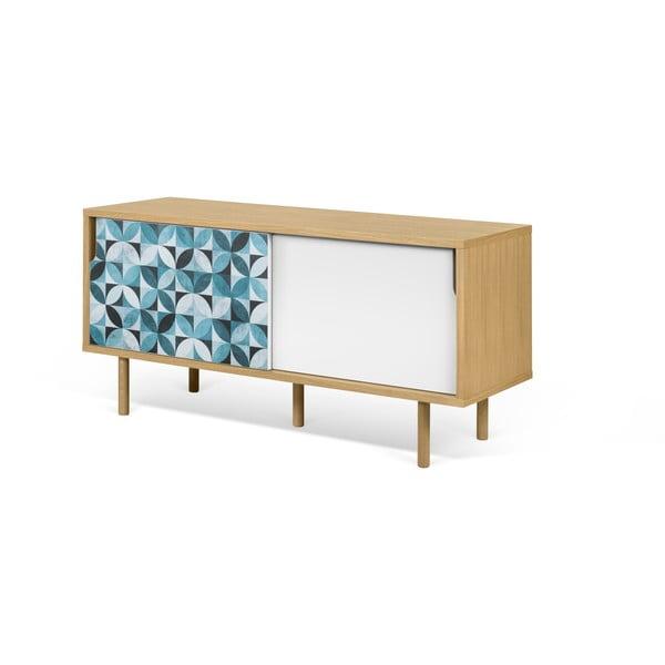 Malý TV stolek z dubového dřeva TemaHome Dann Morocco