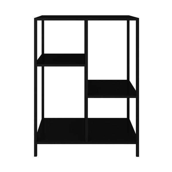 Czarny metalowy regał Canett Lite, wys. 81 cm