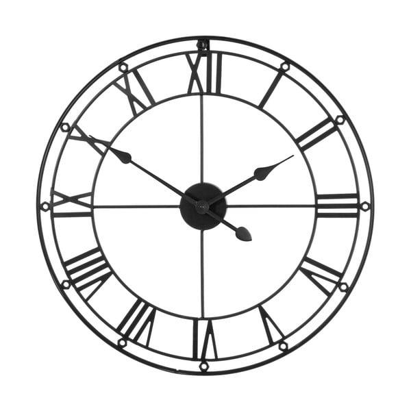 Czarny zegar Premier Housewares Matt, ⌀ 59 cm