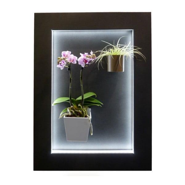 Svítící LED obraz 47,5x64,5 cm, černý