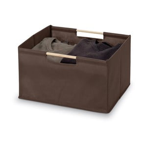 Hnědý úložný box Domopak Saket, délka38cm