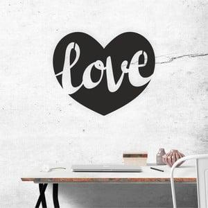 Černá nástěnná samolepicí dekorace North Carolina Scandinavian Home Decors Love v2, 50 x 41 cm