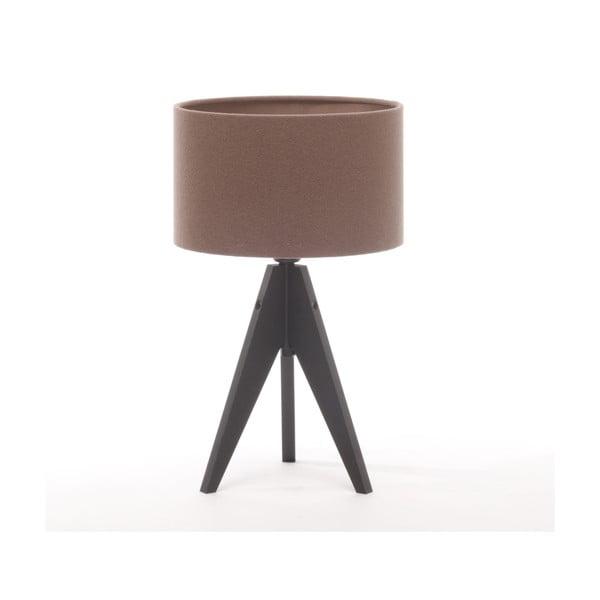 Stolní lampa Arist Cylinder Dark Taupe/Black