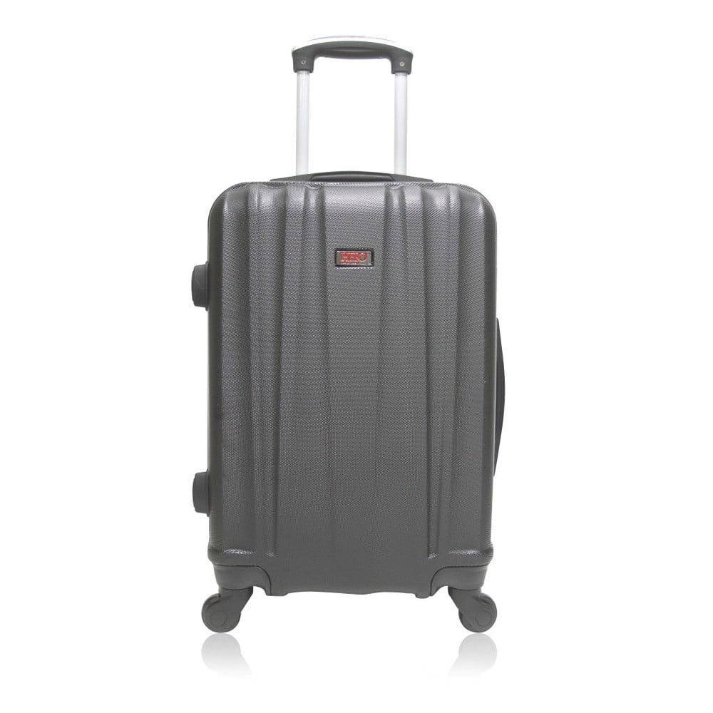 Tmavě šedý cestovní kufr na kolečkách Hero Journey, 91 l