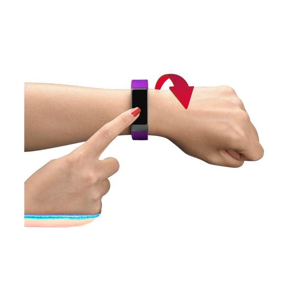 Růžovo-černý bluetooth fitness náramek s dotykovým displejem CellularLine EASYFIT TOUCH