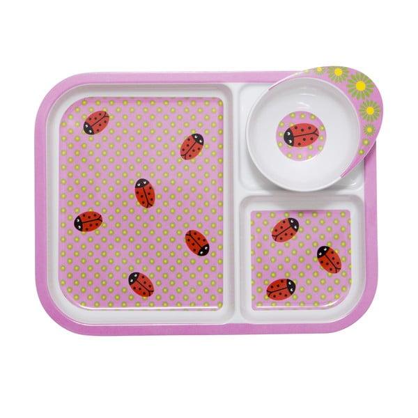 Dětský tác s miskou Ladybug