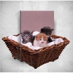 Nástěnný 3D obraz Mosticx Kittens, 40 x 60 cm