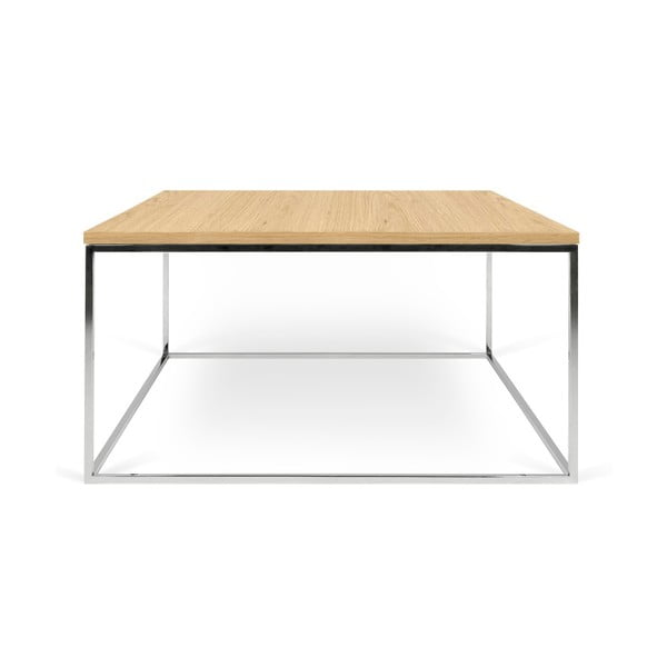 Konferenční stolek s chromovými nohami TemaHome Gleam, 75 cm