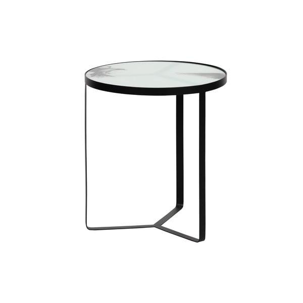 Kovový odkládací stolek seskleněnou deskou BePureHome Fly, ⌀45cm