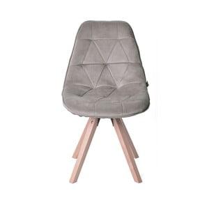 Béžová sametová židle Miloo Home Dolley