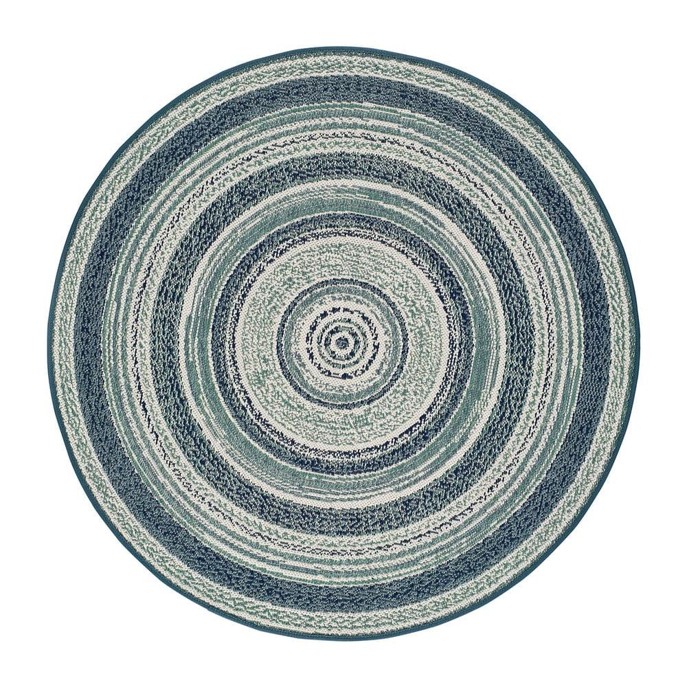 Modrý venkovní koberec Universal Verdi, ⌀ 120 cm