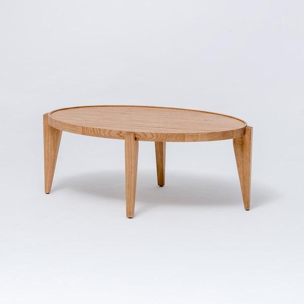 Dubový kávový stolek Bontri, 90x38 cm