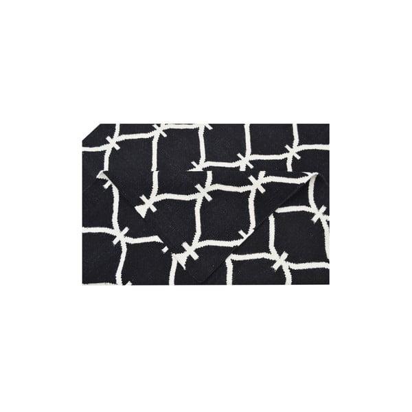 Vlněný koberec Kilim Belinda Black, 155x240 cm