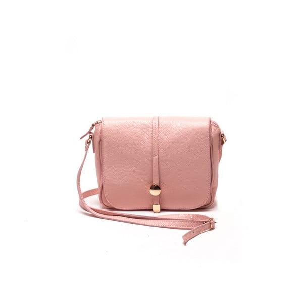 Poșetă din piele Renata Corsi Ariela, roz