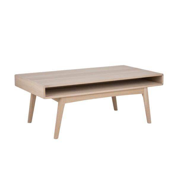Konferenčný stolík s podnožím z dubového dreva Actona Martel, 130 x 70 cm