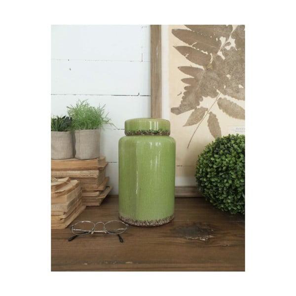 Potiche zöld kerámia doboz, magasság 26 cm - Orchidea Milano