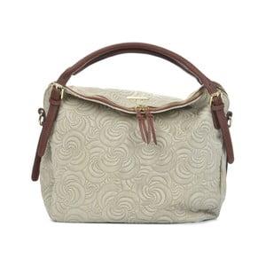 Béžová kožená kabelka Mangotti Bags Alessa