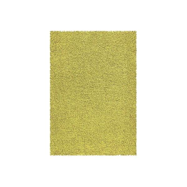 Koberec Shaggy 67x140 cm s 3 cm dlouhým vlasem, limetkový