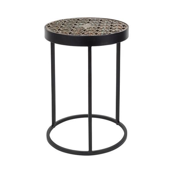 Sari fém dohányzóasztal, ⌀ 33 cm - Dutchbone