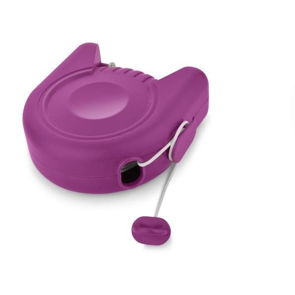 Set sušící šňůry a kolíčků na prádlo Bonita Flora Purple, 24ks