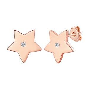 Stříbrné pozlacené náušnice s pravým diamantem Tess Diamonds Deni