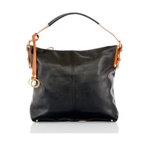 Černá kožená kabelka Glorious Black Savy