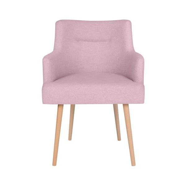 Różowe krzesło do jadalni Cosmopolitan Design Venice
