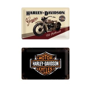 Sada 2 ks plechových cedulí Retro Harley, 20x30 cm