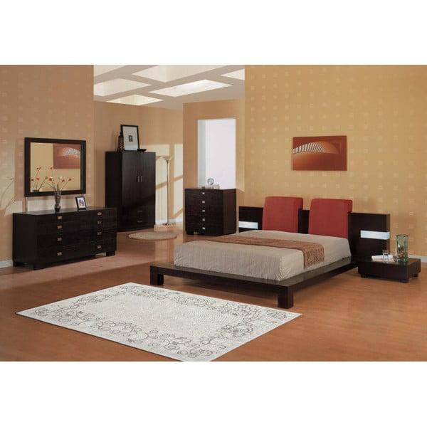Krémový bavlněný koberec Floorist Floral, 100x200cm