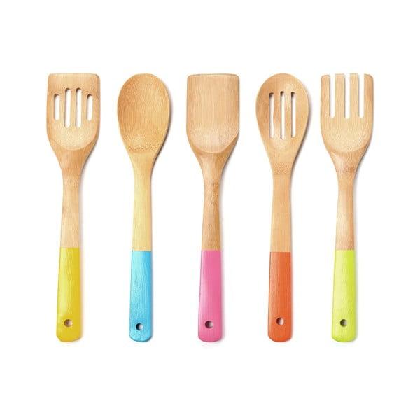 Sada dřevěných kuchyňských pomocníků Premier Housewares Utensil Set, 5 ks