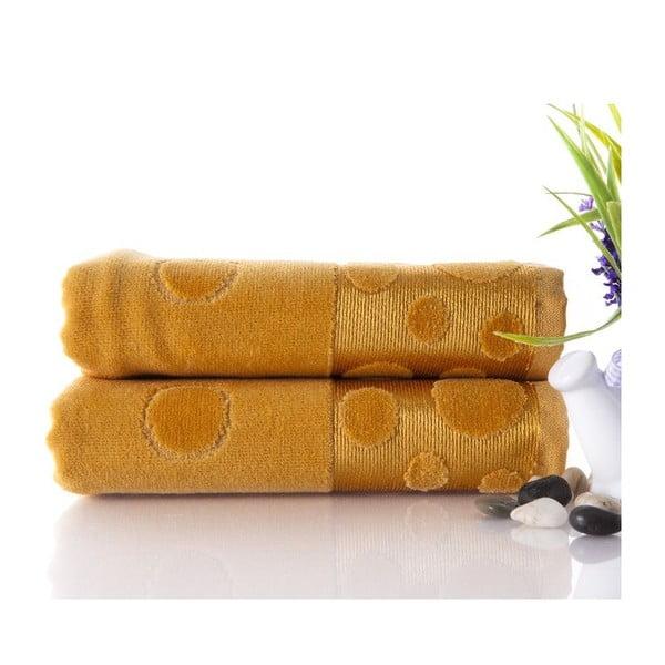 Sada 2 ručníků Tropical Mustard, 50x90 cm