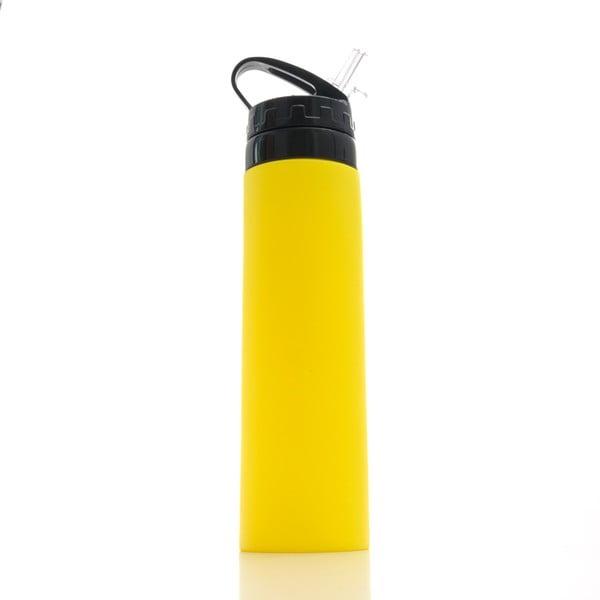 Žlutá silikonová sportovní lahev InnovaGoods Hidralyne