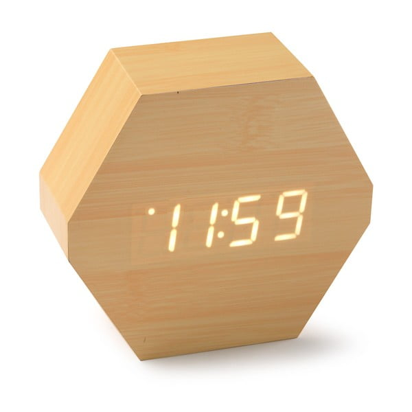 Ceas LED din lemn de bambus Versa Table Clock