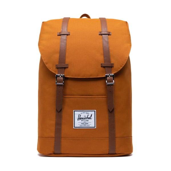 Pomarańczowy plecak z brązowymi paskami Herschel Retreat, 19,5 l